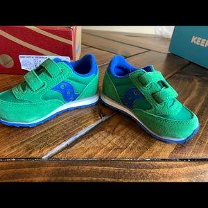 Saucony jazz baby blu/green size 5M